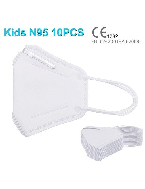 Respirador o Mascarilla KN95 N95 para Niños Certificada, CoronaVirus, Autorizadas ISP, 10 pcs por caja