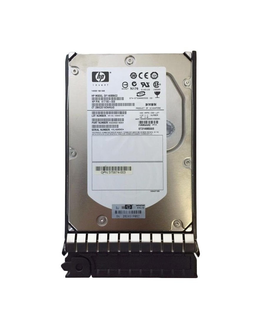 Disco Duro Servidor 417190-003 HP 146-GB 15K 3.5 DP SAS HDD