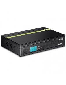 TRENDnet TPE S50 - Conmutador - sin gestionar - 4 x 10/100 (PoE) + 1 x 10/100 - sobremesa - PoE (31 W) - Imagen 1
