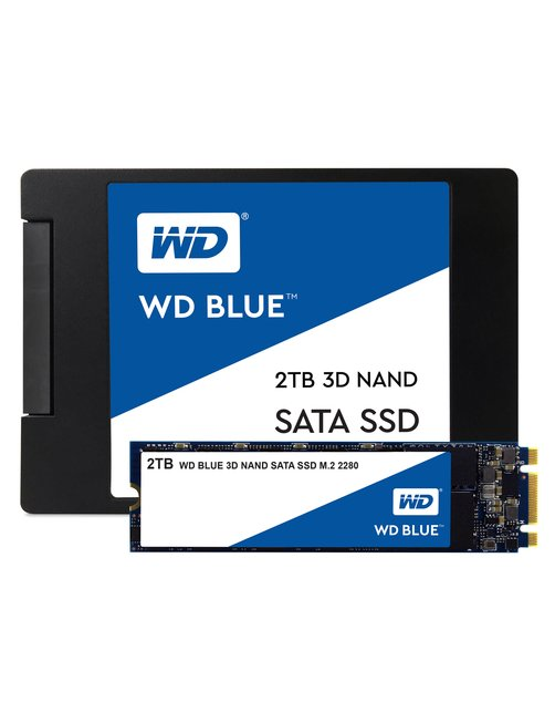 "WD Blue 3D NAND SATA SSD WDS200T2B0A - Unidad en estado sólido - 2 TB - interno - 2.5"" - SATA 6Gb/s - Imagen 3"