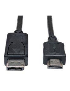 Tripp Lite 6ft DisplayPort to HDMI Adapter Cable Video / Audio Cable DP M/M 6' - Cable de vídeo - DisplayPort / HDMI - DisplayPo