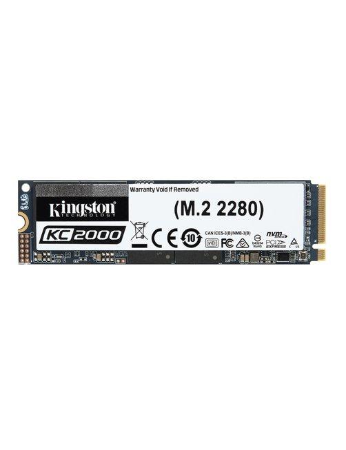 Kingston KC2000 - Unidad en estado sólido - cifrado - 2 TB - interno - M.2 2280 - PCI Express 3.0 x4 (NVMe) - AES de 256 bits -