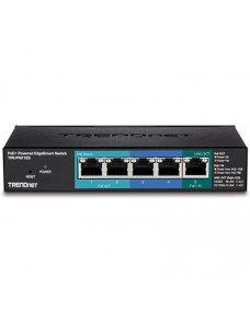 TRENDnet TPE P521ES - Conmutador - inteligente - 1 x 10/100/1000 (PoE+ input) + 2 x 10/100/1000 (PoE) + 2 x 10/100/1000 - sobrem