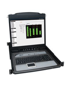 "Tripp Lite 16-Port Rack Console KVM Switch 19"" LCD PS2/USB Cables 1U - Consola KVM con conmutador KVM - 16 puertos - 19"" - monta"