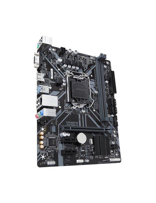 Gigabyte H310M H - 1.0 - placa base - micro ATX - LGA1151 Socket - H310 - USB 3.1 Gen 1 - Gigabit LAN - Tarjeta gráfica (CPU nec