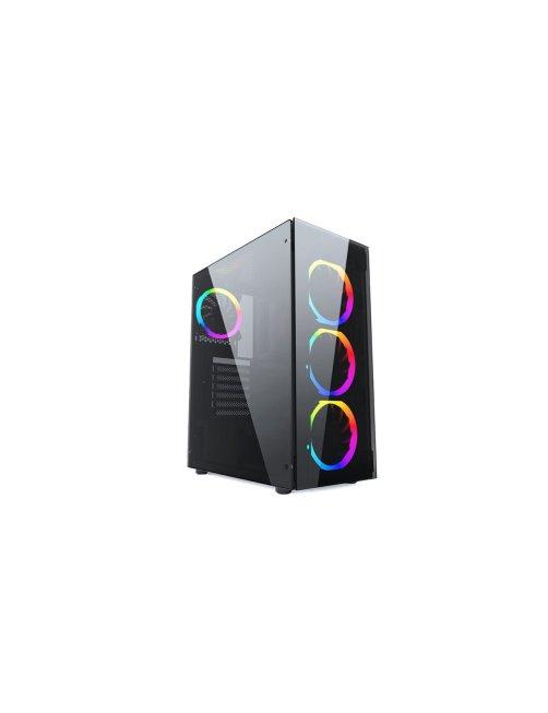 PCTronix - Mid tower - ATX - Black JX188-10